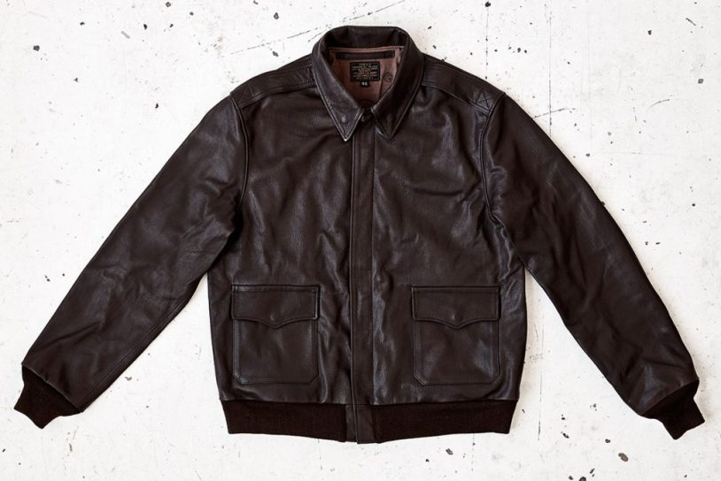 A2 flight jacket in seal brown goatskin