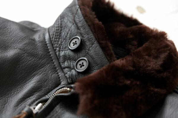 G-1 Flight Jacket with Lamb Shearling Mouton Collar