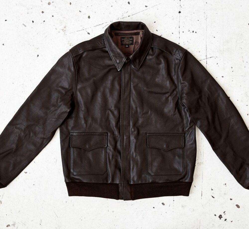 A2 flight jacket in leather