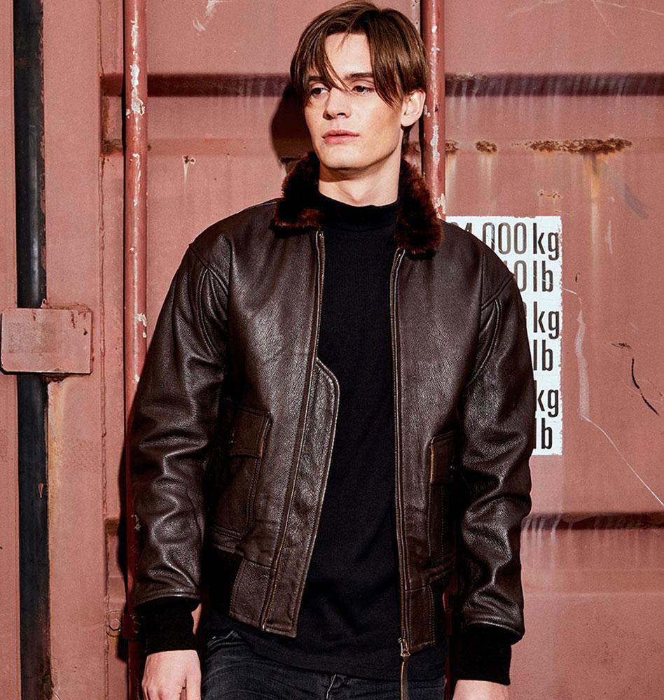 about avi flight leather jacket