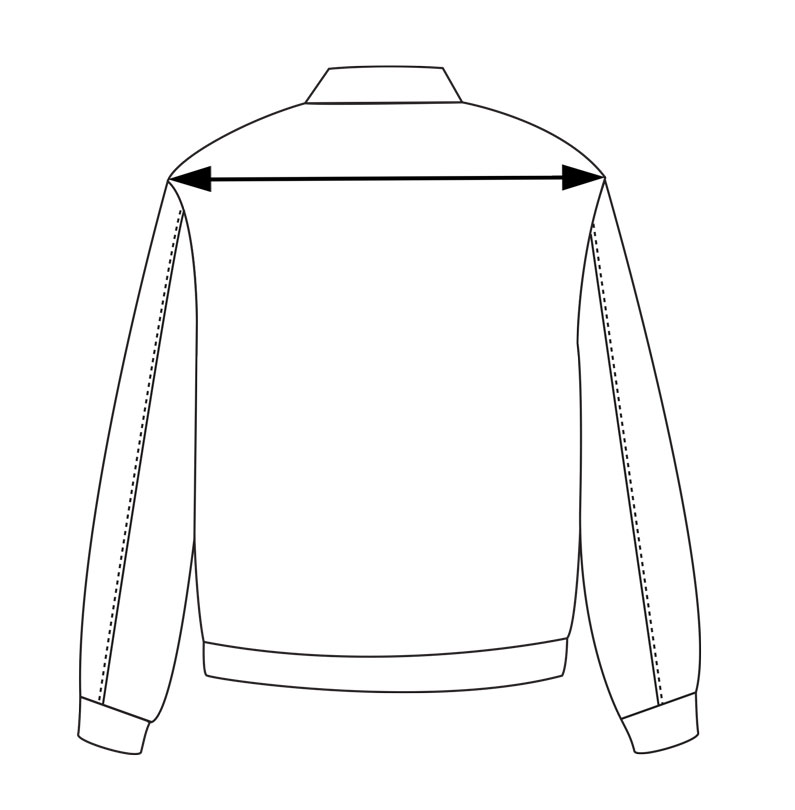 a2 flight jacket measurements shoulders