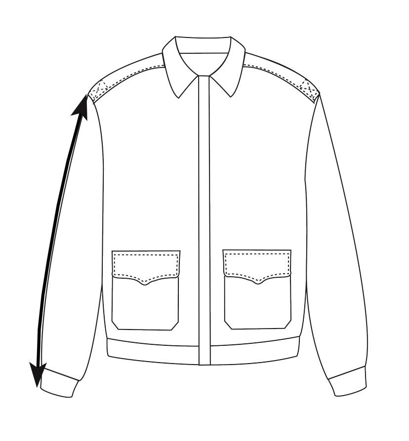 flight jacket sleeve