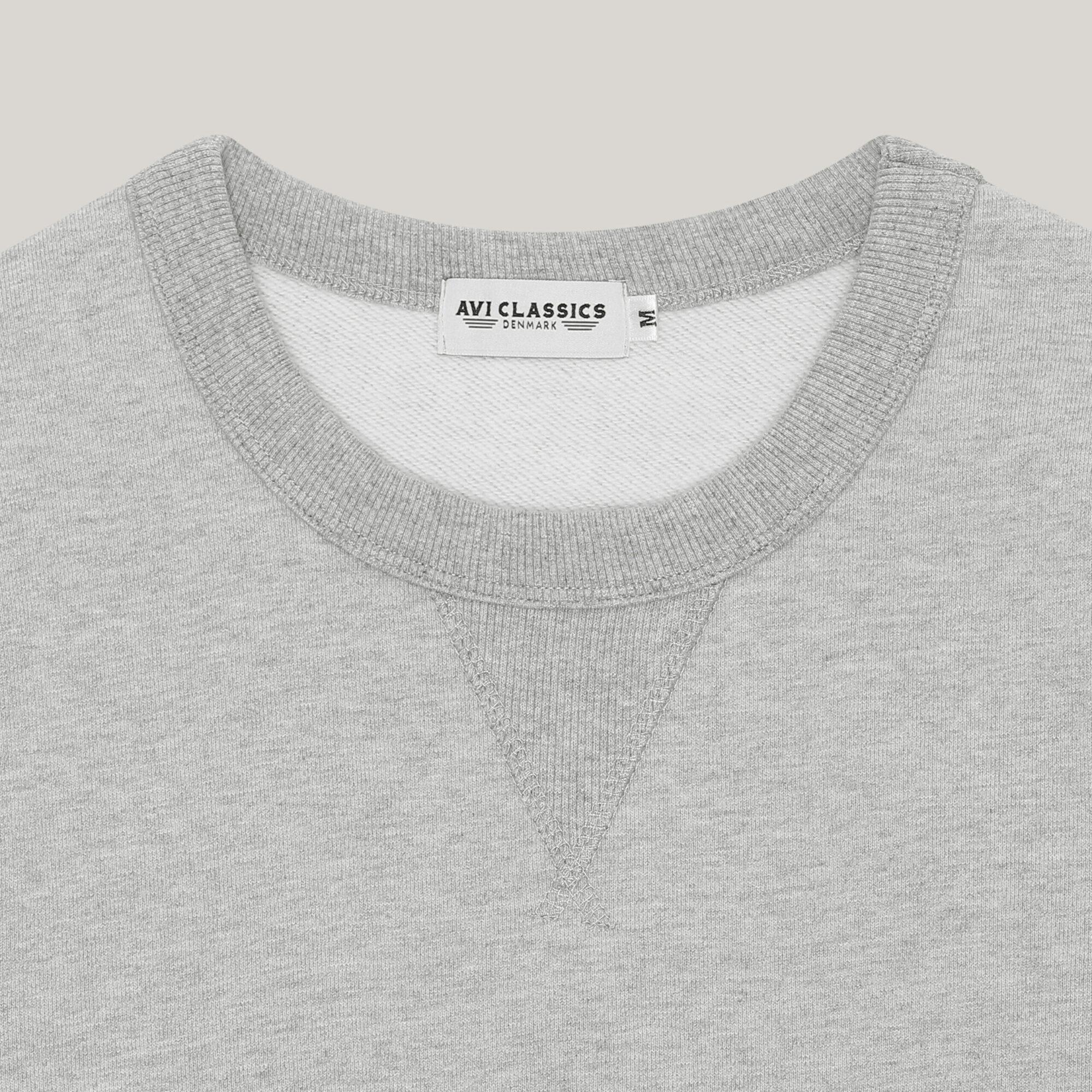 grey sweatshirt in cotton