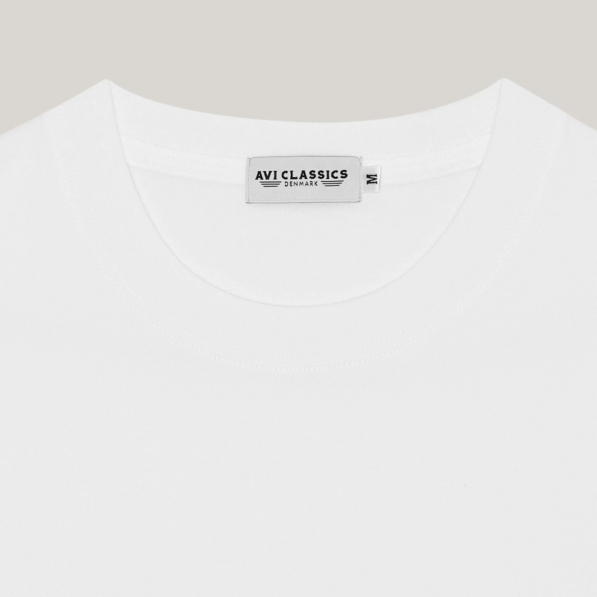 White army tshirt loopwheel