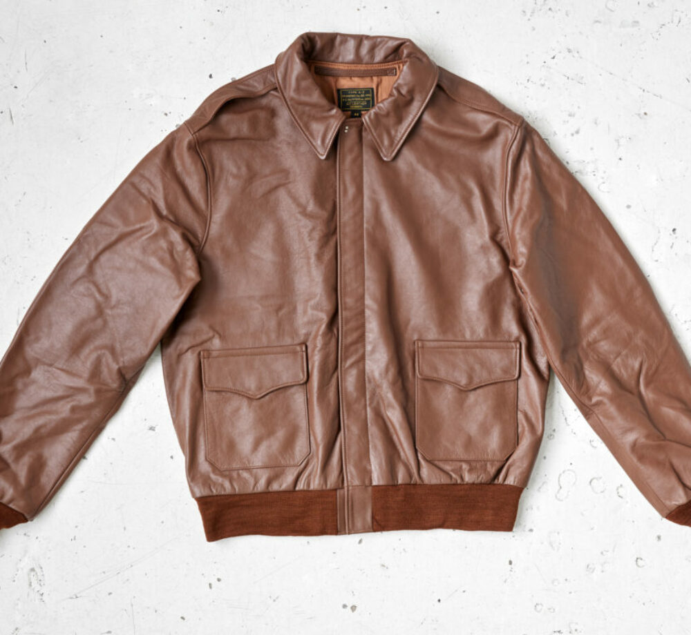 A2 jacket in russet horsehide