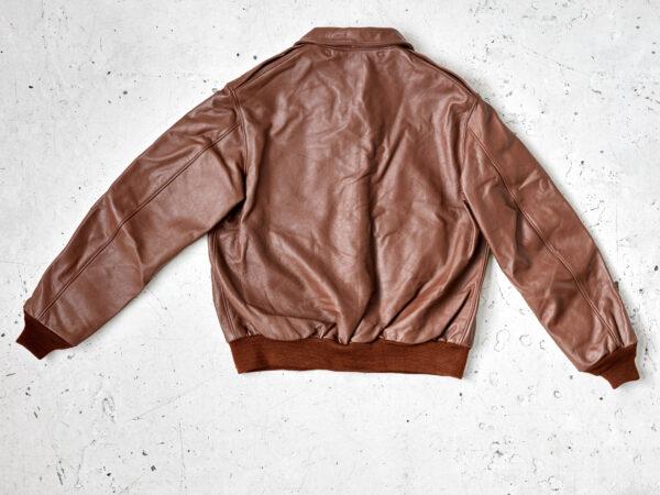 A2 flight jacket in russet horsehide
