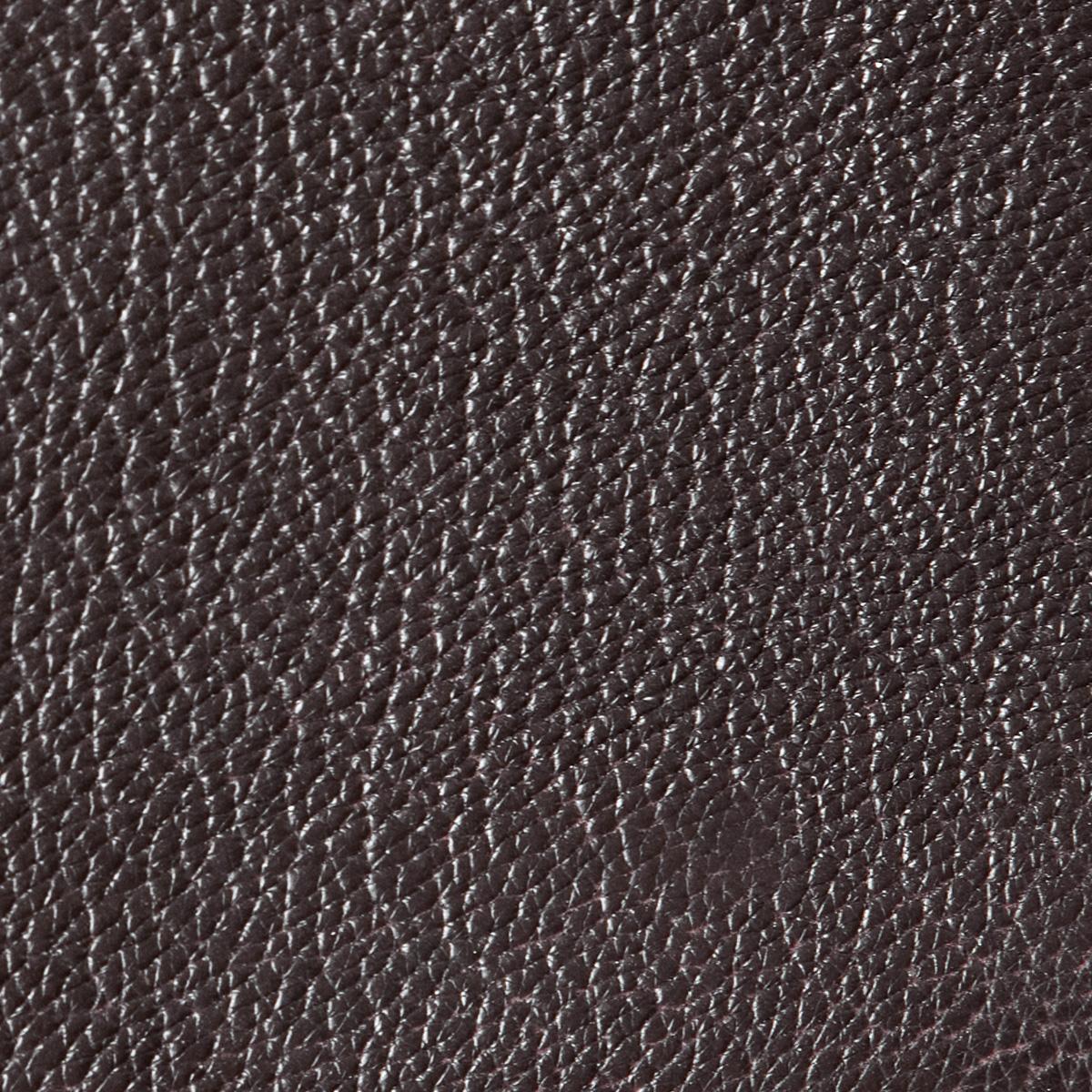 seal brown goatskin leather